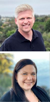 Senior Visual Strategist Rick Tinney and Communications Strategist Licia Walsworth