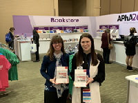 Photo (L-R): SIUE Edwardsville School of Pharmacy's Miranda Wilhelm, with co-editor Cortney Mospan of Wingate University Levine College of Health Sciences.