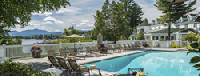 Views abound from the Mirror Lake Inn's outdoor swimming pool :