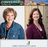 Susan Chritton and Marie Zimenoff from Represent Career Thought Leaders, Sponsor for the International Coach Federation (ICF) Global Converge Event