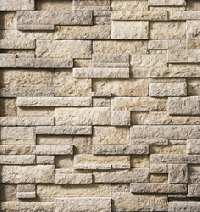 High Plains Drystack Ledgestone panels showcase an earthy grouse color with tan undertones that accentuate the profile's rustic textures.