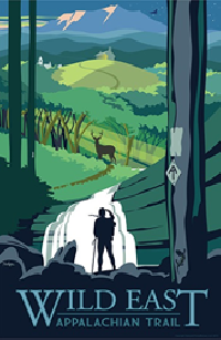 The new Appalachian Trail Wild East poster art is designed by Tyler Nordgren.