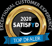 2020 SATISFYD Top Dealer Award for Exceptional Customer Experience   