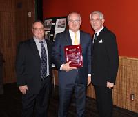 Roger Mumford accepting the RiverCenter's 2019 Community Partner Award.