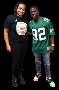 Nailah Ellis, maker of Ellis Island Tea, meets with Kevin Hart, who is now an investor in her Detroit-based beverage company.