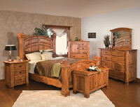 Amish-built, solid hardwood furniture, such as bedroom sets, are on sale for up to 65% off during Brandenberry's End-of-Year Blowout.