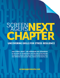 Screenagers NEXT CHAPTER: Uncovering Skills for Stress Resilience, the latest film by Dr. Delaney Ruston, will be screened by Summit Counseling Center this January, at no charge to those in attendance