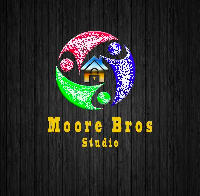 Moore Brothers Inc logo, house in middle surrounded by people, this device is the ultimate in door security, has been tested to withstand 5000 lbs of pressure, unit made of steel and manufactured in US, powder coated to prevent rust
