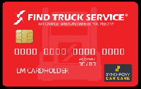 New Find Truck Service Credit Card