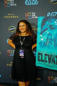 Filmmaker / Actress Angela Matemotja at 2018 DTLA Film Festival premiere of 'ELEVATE'